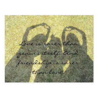 Friendship is Rare than Love Postcard