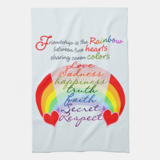 Friendship is the rainbow BFF Saying Design Kitchen Towel