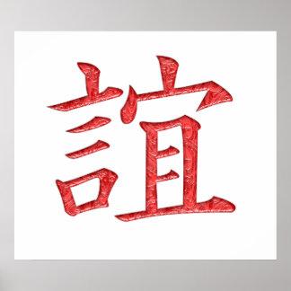 Friendship Kanji Poster