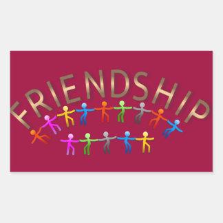 Friendship, Kids Holding Hands Design Sticker