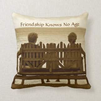 Friendship Knows No Age Throw Pillow