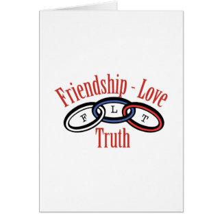 Friendship Love Truth Card