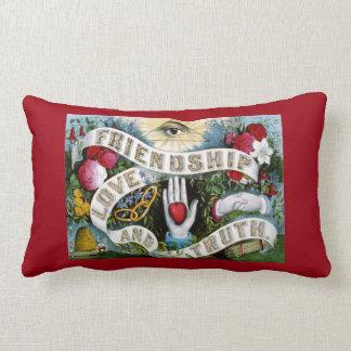 Friendship Love Truth Lumbar Pillow