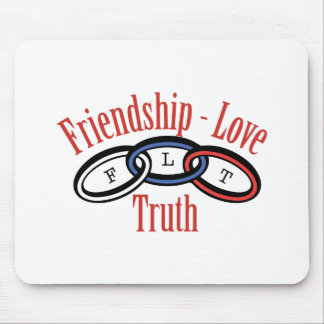 Friendship Love Truth Mouse Pad