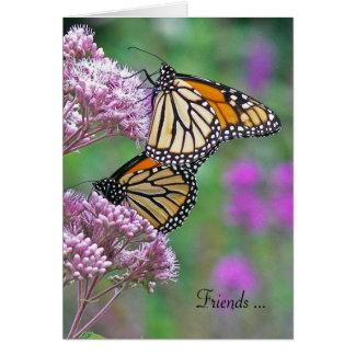 Friendship-monarch butterflies card