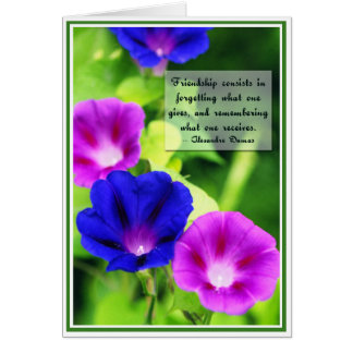 Friendship - Morning Glories Greeting Card