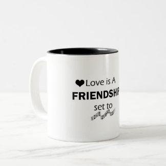 friendship mug. Two-Tone coffee mug