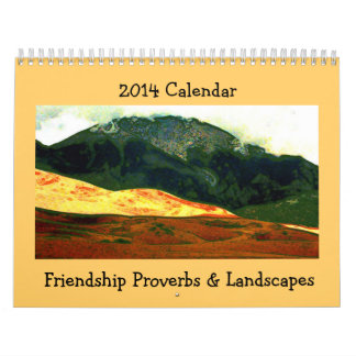 friendship proverbs with landscape art wall calendars