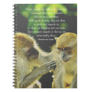 Friendship Quote by Vincent van Gogh Notebook