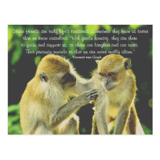 Friendship Quote by Vincent van Gogh Postcard