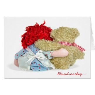 Friendship Rag Doll and Teddy Bear Card