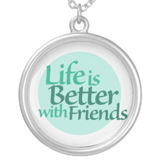 Friendship Round Pendant Necklace