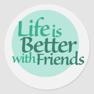 Friendship Round Sticker