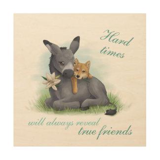 Friendship Shiba & Donkey - art print