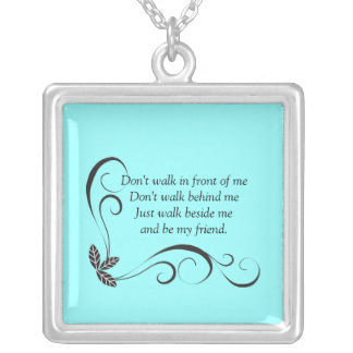 Friendship Sterling Silver Necklace {teal}