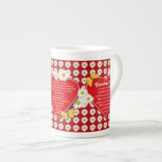 Friendship Tea Recipe Bone China Mugs