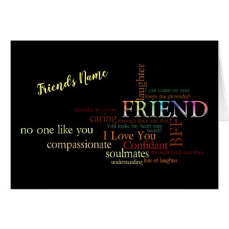 Friendship Word Art Card