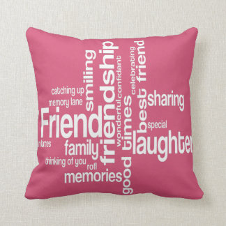 Friendship Word Art Square Pillow
