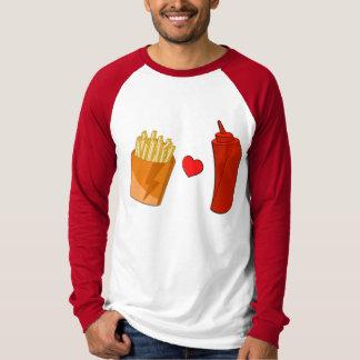 Fries and Ketchup - Junk Food Shirt (long sleeve)