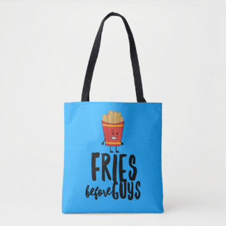 Fries Before Guys All-Over-Print Tote Bag