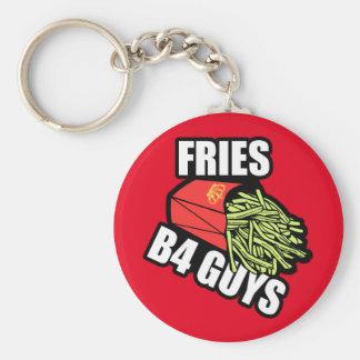 Fries Before Guys Keychain