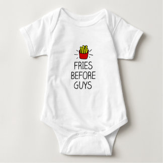 fries before guys with most charming illustration baby bodysuit