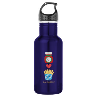 Fries & Ketchup (customizable) 532 Ml Water Bottle