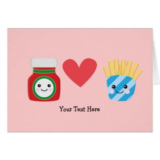 Fries & Ketchup (customizable) Card