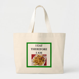 fries large tote bag