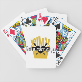 Fries Over Guys Slogan Bicycle Playing Cards