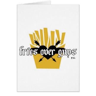 Fries Over Guys Slogan Card