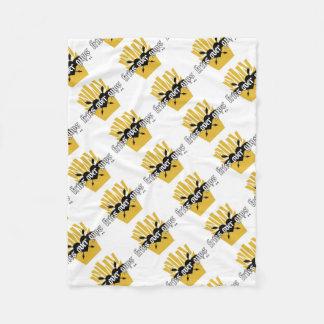 Fries Over Guys Slogan Fleece Blanket