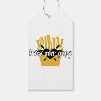 Fries Over Guys Slogan Gift Tags