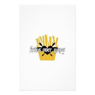 Fries Over Guys Slogan Stationery