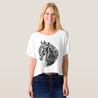 Friesian 1 - ladies canvas boxy crop t-shirt