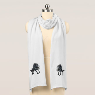 Friesian black beauty stallion horse scarf