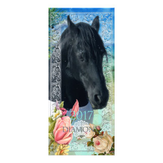 Friesian DIAMOND ~ Calendar Card