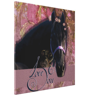 Friesian DIAMOND Portrait - Wrapped Canvas