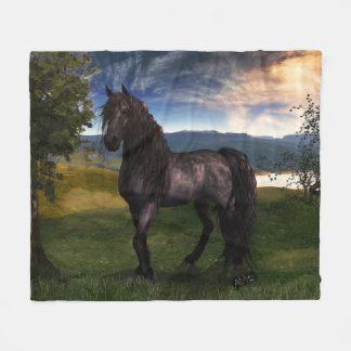 "Friesian Fleece Blanket 50""x60"""
