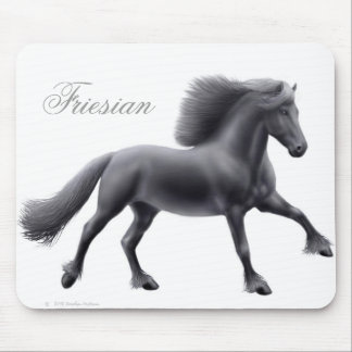 Friesian Full Gallop Mousepad
