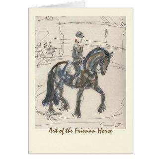 Friesian Horse Art Card blank w/ envelope