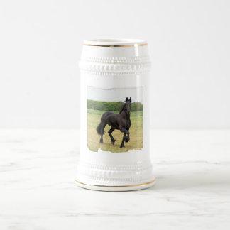 Friesian Horse Beer Stein 18 Oz Beer Stein