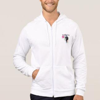 Friesian horse, black stallion beauty hooded sweatshirt