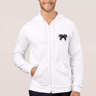 Friesian horse, black stallion beauty sweatshirt