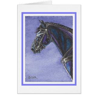 Friesian Horse Blank Card