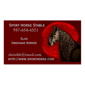 Friesian Horse Business Card