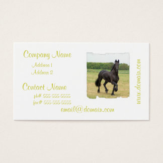 Friesian Horse Business Cards