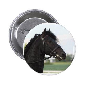 Friesian Horse Button