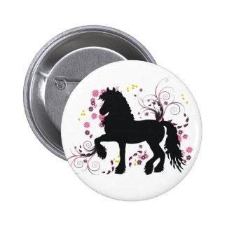 Friesian Horse Buttons