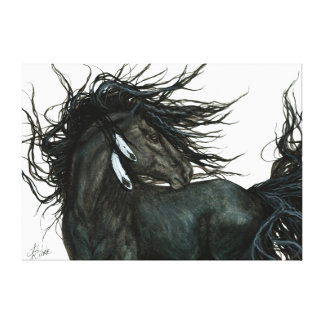 Friesian Horse by Bihrle Canvas Print